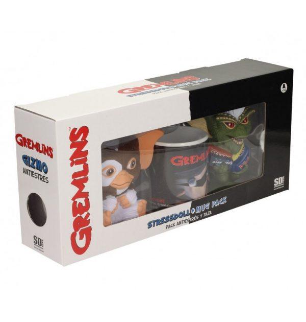 Pack Gremlins, antiestrés Gizmo, Stripe y taza